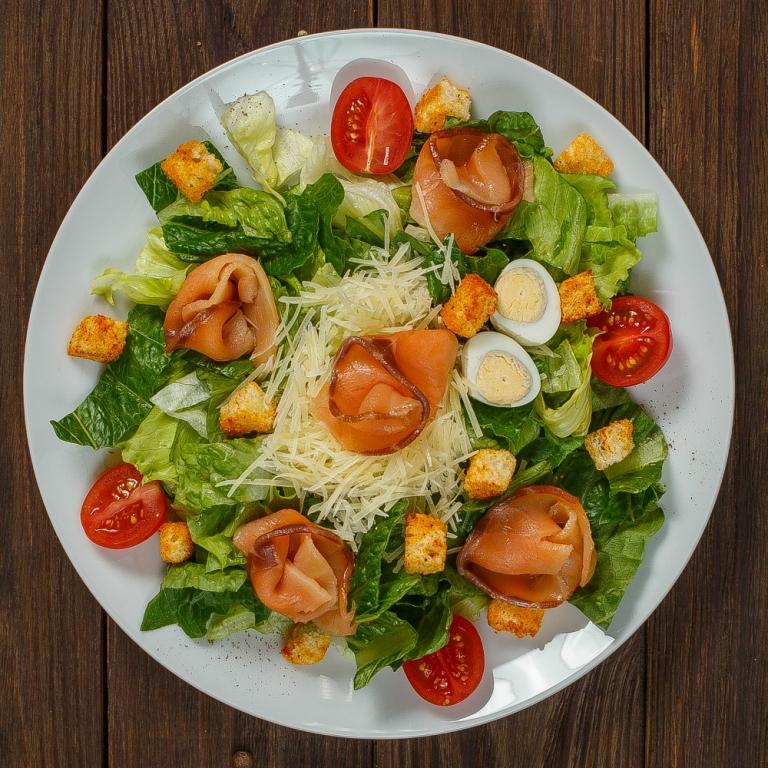 Салат в картинках с семгой